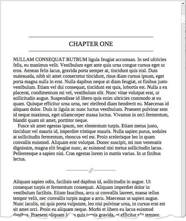screen grab of sample page from Scrivener 3 on Mac
