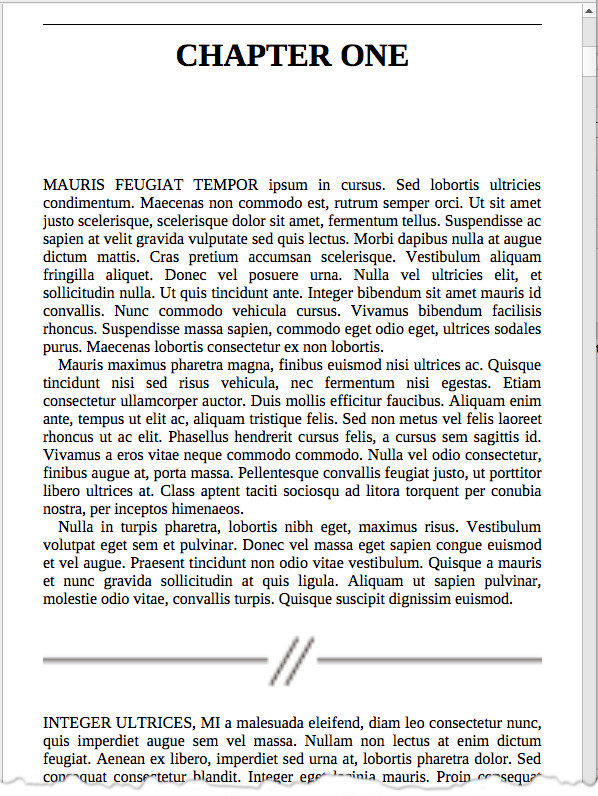 screen grab of sample page from Scrivener 3 on Windows