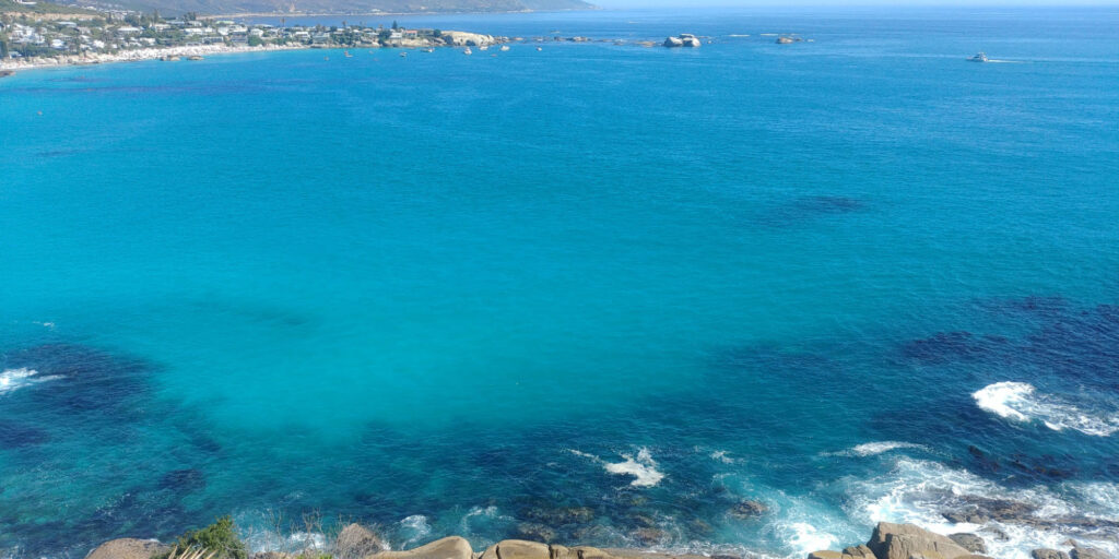 The cold water of Clifton Bay